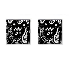 Black and white high art abstraction Cufflinks (Square)