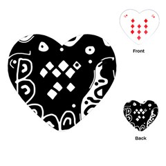 Black and white high art abstraction Playing Cards (Heart)