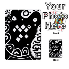 Black and white high art abstraction Playing Cards 54 Designs