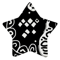 Black and white high art abstraction Star Ornament (Two Sides)