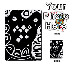 Black and white high art abstraction Multi-purpose Cards (Rectangle)