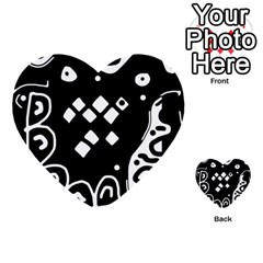 Black and white high art abstraction Multi-purpose Cards (Heart)