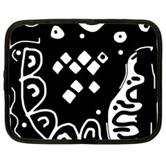 Black and white high art abstraction Netbook Case (Large)