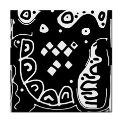 Black and white high art abstraction Face Towel