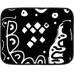 Black and white high art abstraction Fleece Blanket (Mini)