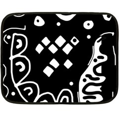 Black and white high art abstraction Double Sided Fleece Blanket (Mini)
