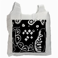 Black and white high art abstraction Recycle Bag (Two Side)