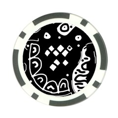 Black and white high art abstraction Poker Chip Card Guards (10 pack)