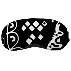 Black and white high art abstraction Sleeping Masks