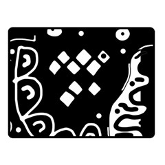 Black and white high art abstraction Fleece Blanket (Small)
