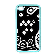 Black and white high art abstraction Apple iPhone 4 Case (Color)