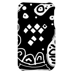 Black and white high art abstraction Apple iPhone 3G/3GS Hardshell Case