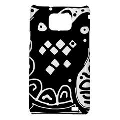 Black and white high art abstraction Samsung Galaxy S2 i9100 Hardshell Case