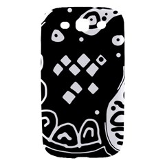 Black and white high art abstraction Samsung Galaxy S III Hardshell Case