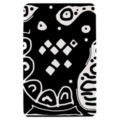 Black and white high art abstraction Kindle Fire (1st Gen) Hardshell Case