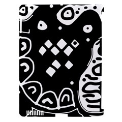 Black and white high art abstraction Apple iPad 3/4 Hardshell Case (Compatible with Smart Cover)
