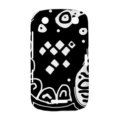Black and white high art abstraction BlackBerry Curve 9380