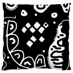 Black and white high art abstraction Large Cushion Case (One Side)