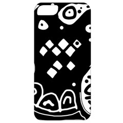 Black and white high art abstraction Apple iPhone 5 Classic Hardshell Case