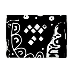 Black and white high art abstraction Apple iPad Mini Flip Case