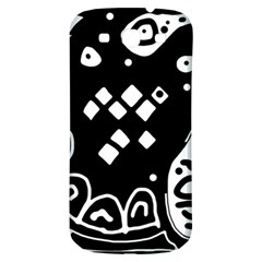 Black and white high art abstraction Samsung Galaxy S3 S III Classic Hardshell Back Case