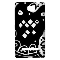 Black and white high art abstraction HTC 8S Hardshell Case