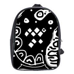 Black and white high art abstraction School Bags (XL)