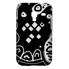 Black and white high art abstraction Samsung Galaxy Ace Plus S7500 Hardshell Case