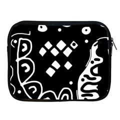 Black and white high art abstraction Apple iPad 2/3/4 Zipper Cases