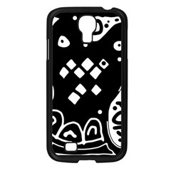 Black and white high art abstraction Samsung Galaxy S4 I9500/ I9505 Case (Black)