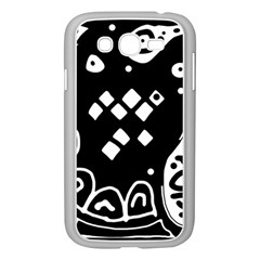 Black and white high art abstraction Samsung Galaxy Grand DUOS I9082 Case (White)