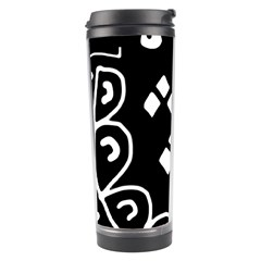 Black and white high art abstraction Travel Tumbler
