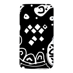 Black and white high art abstraction Samsung Note 2 N7100 Hardshell Back Case