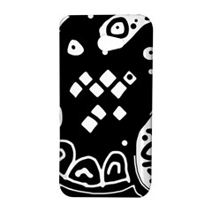 Black and white high art abstraction HTC Butterfly S/HTC 9060 Hardshell Case