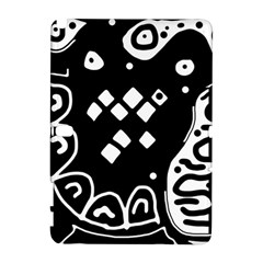 Black and white high art abstraction Samsung Galaxy Note 10.1 (P600) Hardshell Case