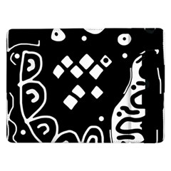 Black and white high art abstraction Samsung Galaxy Tab Pro 12.2  Flip Case