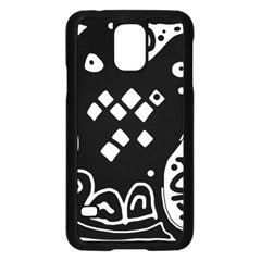 Black and white high art abstraction Samsung Galaxy S5 Case (Black)