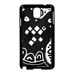 Black and white high art abstraction Samsung Galaxy Note 3 Neo Hardshell Case (Black)