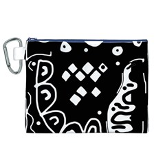 Black and white high art abstraction Canvas Cosmetic Bag (XL)