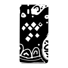 Black and white high art abstraction Samsung Galaxy Alpha Hardshell Back Case