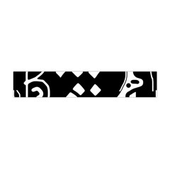 Black and white high art abstraction Flano Scarf (Mini)