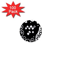 Black and white high art abstraction 1  Mini Magnets (100 pack)