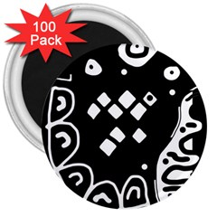 Black and white high art abstraction 3  Magnets (100 pack)