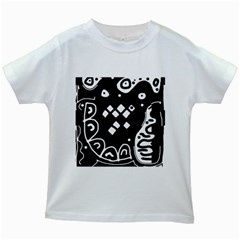Black and white high art abstraction Kids White T-Shirts