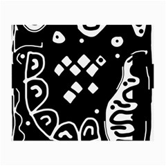 Black and white high art abstraction Small Glasses Cloth