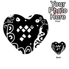 Black and white high art abstraction Playing Cards 54 (Heart)