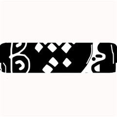 Black and white high art abstraction Large Bar Mats