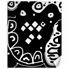 Black and white high art abstraction Canvas 11  x 14