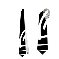 Black and white high art abstraction Neckties (One Side)