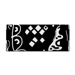 Black and white high art abstraction Hand Towel